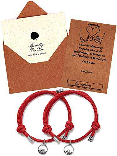 Upgraded Magnetic Couples Bracelets Mutual Attraction Relationship Matching Bracelets for Couples Friendship Promise Rope Braided Bracelet Set Gift for Women Men Boy Girl Him Her BFF Best Friends