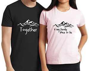 Love Matching Couple Shirts Husband and Wife Valentines Day Tee Honeymoon Anniversary Set (Black2-Men, S)