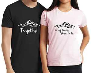 Love Matching Couple Shirts Husband and Wife Valentines Day Tee Honeymoon Anniversary Set (Black2-Men, M)