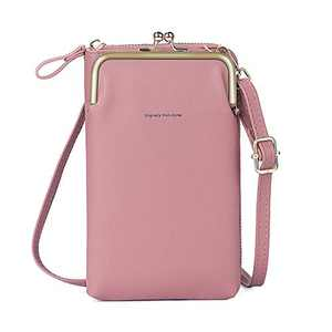 Small Crossbody Purses for Women, Etercycle Fashion Leather Cellphone Shoulder Bags Purse Wallet with Credit Card Slots (Light purple)