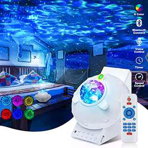 Galaxy Projector Night Light Star Projector Galaxy Globe Projector Galaxy Nova Projector 360 Pro with White Music Projector for Party/Yoga Bedroom Ceiling Decor Adults Kids Gift (White)