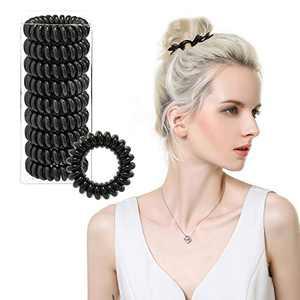 Hair Ties for Women Spiral Hair Ties No Crease, Kuaima Hair Coils Phone Cord Hair Ties Girls Coil Ponytail Holder-(9Pcs)