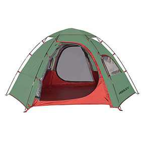 HODLEX Camping Outdoor Tent Setup Easy Family Durable Tent Camping Waterproof 2-3 Person Sundome Tent Double Layer (Green)