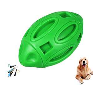 Squeaky Dog Toys for Aggressive Chewers,Dog Chew Toys Ball with Squeaker,Almost Indestructible and Durable Dog Toys for Medium and Large Breed
