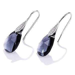 Pendant Earrings, Teardrop Crystal Drop Dangle Earrings for Women Girls, Elegant Hoop Earring, Teardrop Fashion Earrings Jewelry Christmas Gifts