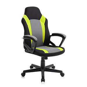 AJS Office Chairs Clearance, Cheap Gaming Chair for Teens, Fabric Computer Desk Chair with Padded Armrests and Height Adjustment (Green)