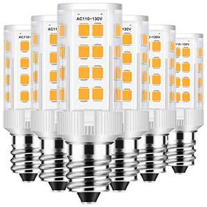 E12 LED Bulbs, AMAZING POWER 5W LED Candelabra Bulbs 50W Equivalent Candelabra Base Light Bulb for Chandelier Lighting Daylight White 6-Pack