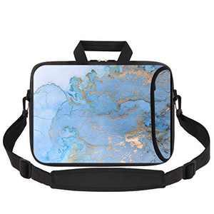 HAOCOO Laptop Shoulder Bag Case Sleeve Water-Resistant Neoprene Computer Case Sleeve Handle Adjustable Shoulder Strap Laptop Briefcase