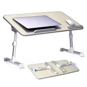 Adjustable and Portable Laptop Table Laptop Desk with Wrist Rest Laptop Stand for Bed and Sofa Laptop Stand with Adjustable Height