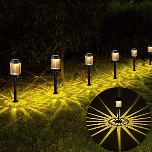 Solar Lights Outdoor Garden Decorative - 6Pack Solar Pathway Lights 2021New LED Outdoor Solar Powered Lights Waterproof Auto On/Off Landscape Yard Lighting for Patio Lawn Backyard Driveway Walkway