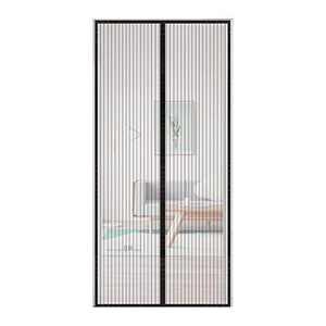 YUFER Magnetic Screen Door 32×82 Mesh Screen Curtain Door with Sealing Door, Heavy Duty,Door Screen - Fits Door Size up to 32''x82''Black
