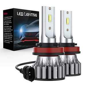 OKVOR H11/H9/H8 LED Headlight Bulbs, 60W 12000 Lumens Super Bright Car Driving Light Bulbs Conversion Kit,LED Headlamp Bulb with IP68 Watreproof,Halogen Replacement,Quick Installation