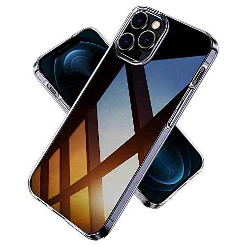 Superwise Crystal Clear Compatible with iPhone 12 Pro Case, Compatible for iPhone 12 Pro Case 6.1 Inch, Phnom Penh Shockproof Protective Phone Case Slim Thin Cover - Crystal Clear
