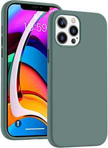 Cucell Compatible with iPhone 12 Pro Max Case 6.7 inch(2020),Liquid Silicone Gel Rubber Full Body Protection Cover Shockproof Durable Drop Proof Shell-Pine Green