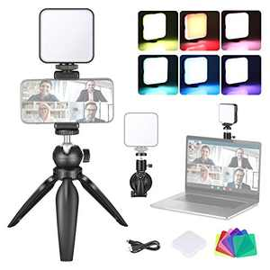 Neewer Video Conference Lighting Kit with Suction Cup, Tripod, Color Filter & Phone Holder for Video Conferencing/Remote Working/Zoom Calls/Self Broadcasting/Live Streaming/Microsoft Teams/Fill Light