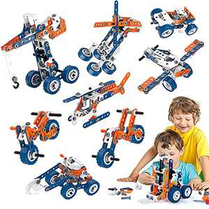 Kids Building Toys Erector Set with Box, Stem Toys for Boys and Girls Gift, Educational Construction Learning Toy, Engineering Building Blocks Toys for 6 Year Old Boys