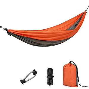 CAMEL CROWN Camping Hammock with Straps for Trees Single Person Portable Indoor Outdoor Backyard Parachute Nylon Hammocks