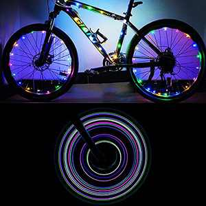 ELlight LED Bicycle Wheel Lights(2 Tires,Multicolor) Multicolor Bike Spoke Lights Cycling Decoration Safety Warning for Kids Adults Outdoor Family Night Riding
