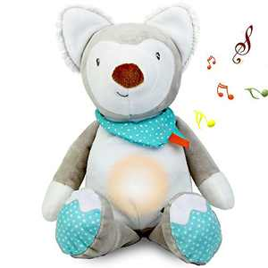 GRESATEK Baby Sleep Soothers Toddler Night Light Sound Machine with 10 Soothing Lullaby Portable Baby Sleep Aid Toy