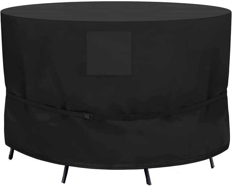 SIRUITON Round Furniture Cover Circular Table Cover Patio Set Cover Outdoor Garden Furniture Cover 420D Heavy Duty Oxford Polyester