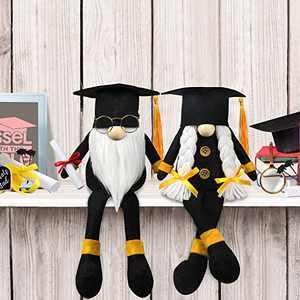 Tifeson Graduation Gnome Plush Elf Decorations - Mr and Mrs Handmade Swedish Gnomes Plush Elf Scandinavian Tomte - Graduation Table Ornament, Graduation 2021 Gift for High School College Graduate