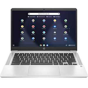 "HP Chromebook 14 14"" FHD Laptop Computer, for Education or Student, Intel Celeron N4000 Up to 2.6GHz, 4GB DDR4, 32GB eMMC, 11+ Hrs Battery, Webcam, Chrome OS, Online Class Ready, BROAGE Mousepad"