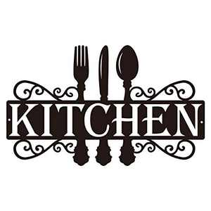 Kitchen Metal Sign, Dining Room Wall Decor Kitchen Word Art Farmhouse Cooking Gift Housewarming Gift