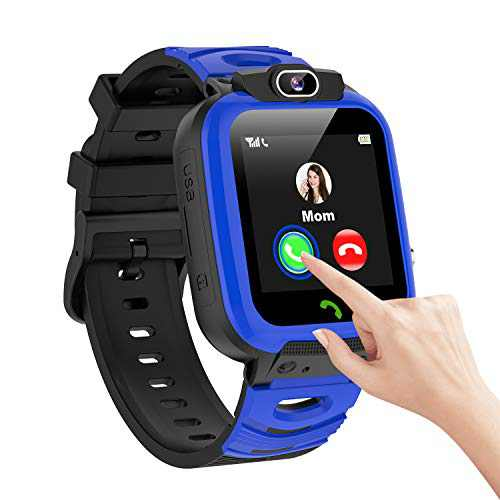 Smart Watch for Kids Boys 14 Games Video Timer SOS Calling HD Camera Selfie Smartwatch Toddler Touch Screen Multiple Alarm Clock Music 1GB SD Card Calendar Calculator for 3-12 Student