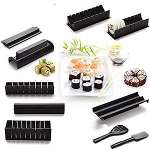 Ured Professional DIY Sushi Maker Kit, Premium 10pcs Diy Sushi Set Sushi Maker, Upgrade Sushi Roller Rice Mold Easy To Use, Graceful Can Make 8 Kinds Of Sushi Patterns