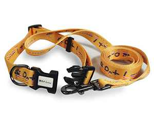 Pet Lavu Dog Collar and Leash,Adjustable Dog Collars with Quick Release Buckle for Small Medium Large Dogs (Yellow, L)