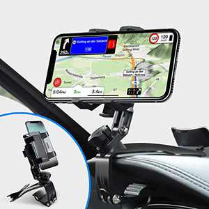 Car Phone Holder Mount, Phone Car Holder with Upgrade 360 Degree Rotation Dashboard Universal &Adjustable Spring Clip Cell Phone Holder for Car 4 to 7 inch Smartphones