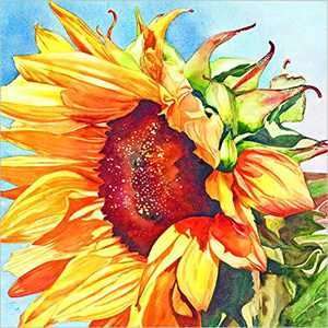 Flower Diamond Painting Kits for Adults, 5d Diamonds Art with Full Tools Accessories, Sunflower Arts Dotz Craft for Home Décor, Ideal Gift for Family or Self Use