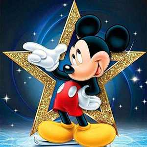 Anime Diamond Painting Kits for Adults, 5d Diamonds Art with Full Tools Accessories, Star Mickey Mouse Arts Dotz Craft for Home Décor, Ideal Gift for Family or Self Use