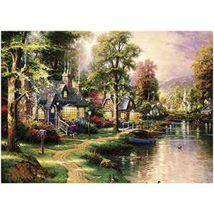 Jigsaw Puzzles 1000 Pieces for Adult Kids Teens, Garden House, Large Colorful Puzzle Set, Thick Sturdy Puzzles Piece Fit Together Perfectly, Puzzles Game for Educational Gift Family Lover 27x30 in