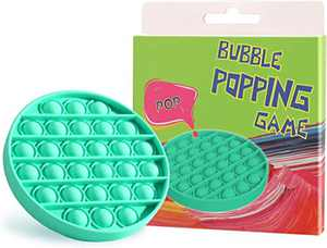 Push Pop Fidget Toy, Silicone Pop Fidget Toys for Anxiety, Fidget Toys Push Pop Bubble, Bubble Popper Fidget Toy for Irritability and Anti-Anxiety(Round Green)