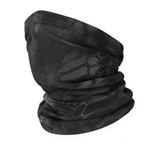 Obemisk Neck Gaiter Face Mask Reusable,Breathable Face Masks Bandana,Sun Dust Protection Cover Balaclava Scarf Shield Black Grey