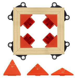 Angle Corner Spring Clamps for Woodwork: Adjustable 60 90 120 Degree Woodworking Tools Clamp Kit - DIY Jig Clip Set Tool for Wood Working Welding Drilling Picture Photo Frame Molding