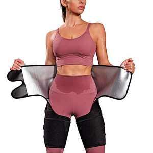 Kumayes Waist Trainer Belt for Women Thigh Waist Trimmer Butt Lifter Slimming Workout Sweat Band Body Shaper (Black, Large)
