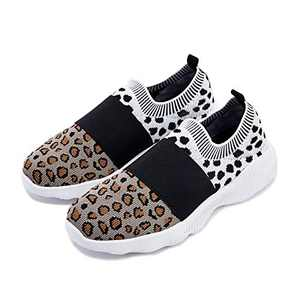 TINSTREE Women Walking Running Shoes Slip On Memory Foam Lightweight Breathable Knit Athletic Sneakers for Workout