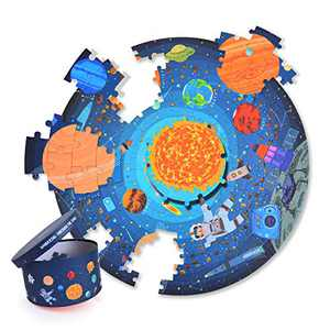 Mideer 150 Pieces Space Puzzle - Wandering Through The Space Preschool Learning Jigsaw Kids Floor Puzzle Toy in Gift Box