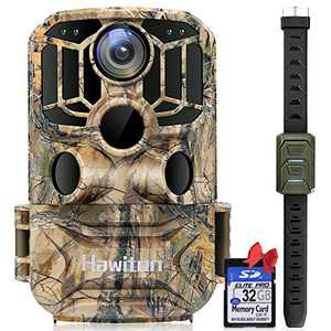 Hawiton Trail Camera - WiFi Wildlife Hunting Camera 【Upgrade】 20MP 1296P Game Trail Cameras with Night Vision Motion Activated Waterproof Outdoor Bundle Video Cam Monitoring, with 32GB SD Card