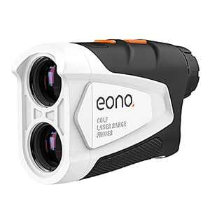 Amazon Brand - Eono Range Finder Golf, 600 M Golf Range Finder with Slope Compensation, Flag-Lock, Scan Mode, Horizontal Distance,Speed for Range Finder Shooting, ±0.5 M Accuracy, 6X Magnification