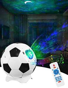 Star Projector Night Light for Bedroom - Nebula Galaxy Projector for Sky Lite with Moon, Soothing Aurora Effect, Bluetooth Music Speaker, Voice Control, Party/Home Theater Decor