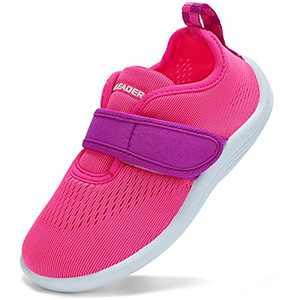 ALEADER Toddler Girl Water Shoes Beach Slip On Swim Shoes Barefoot Sock Slippers Pink 11-12 US Little Kid