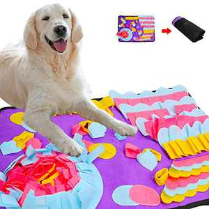 Dog Puzzle Mat,Pet Slow Feeding Pad,Nosework Feeding Mat Encourages Natural Foraging Skills,Washable Training Mats for Stress Release