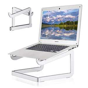 """Laptop Stand Portable, Aluminum Foldable Laptop Riser Holder, Ergonomic Computer Stand Ventilated Cooling Notebook Stand for MacBook Pro/Air, HP, Lenovo, Sony, Dell, More 10-15.6"""" Laptops - Silver"""