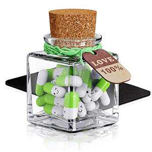JOFUYU Coolest-Gift for Boyfriend Message Cute-Couple - Write Down Your Private Conversation(Fresh Green 25pcs)