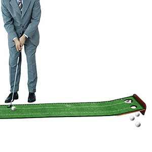 Loowoko Golf Putting Green Foldable Indoor Putting Mat Office Golf Practice Putter Equipment