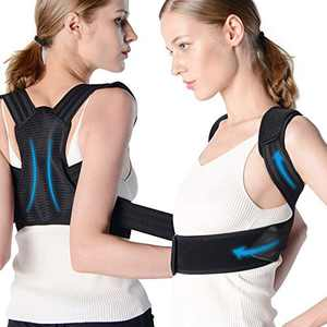 byhui Posture Corrector for Girl, Lady, Women, Adjustable and Breathable Back Brace Improve Posture and Provides Back Support, Providing Pain Relief for Neck, Back, Shoulders, L