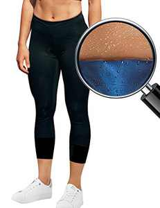 NANOOER Women Sauna Training Leggings Compression Execise Workout Yoga Pants Thermo Sweat Capris